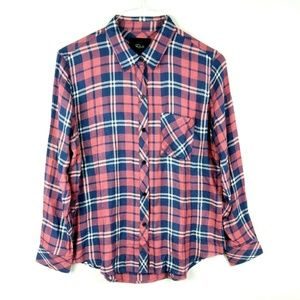 Rails Hunter Plaid Long Sleeve Pocket Shirt Top